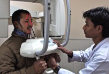 Dental technician student in NYF's Vocational Education and Career Counseling Program